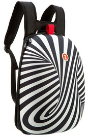 ZIPIT Soft Shell Backpack Black Zebra