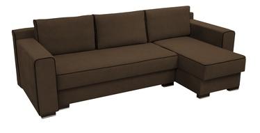 Stūra dīvāns Idzczak Meble Colin Dark Brown, 254 x 140 x 71 cm
