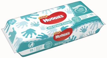 Drėgnosios servetėlės Huggies All Over Clean, 56 vnt.