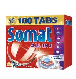 Indaplovių tabletės Somat All in one, 100 vnt