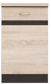 Шкафчик Black Red White Kitchen Bottom Cabinet Right Junona Line-D1D/50/82P Sonoma Oak/Wenge