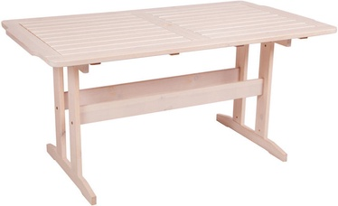 Dārza galds Folkland Timber Lolland White, 150 x 85 x 73 cm