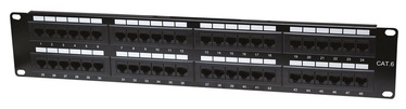 Intellinet Patch Panel 19'' UTP CAT 6 RJ45 x 48 2U Black