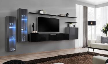 Dzīvojamās istabas mēbeļu komplekts ASM Switch XI Graphite/Black