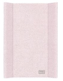 Пеленальный матрас Ceba Baby, 70x50 см, розовый