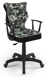 Детский стул Entelo Norm ST33 Size 6, черный/зеленый, 425 мм x 915 - 1045 мм