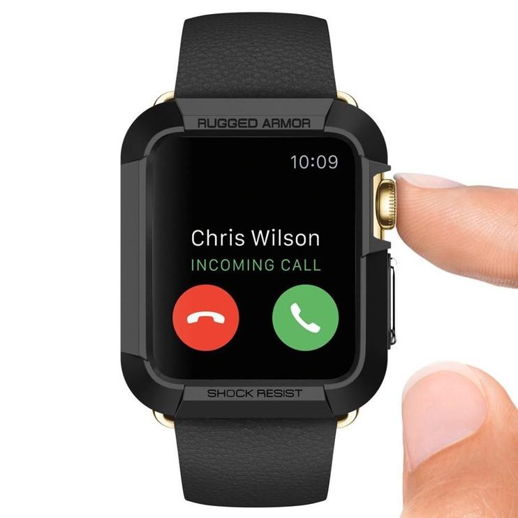 Spigen Rugged Armor Case For Apple Watch 3/2/1 42mm Black