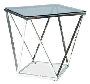 Kafijas galdiņš Signal Meble Silver B Silver, 500x500x530 mm