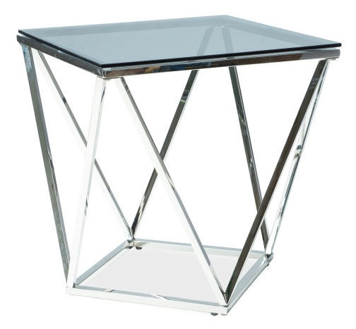 Kafijas galdiņš Signal Meble Modern Silver B Chrome, 500x500x530 mm