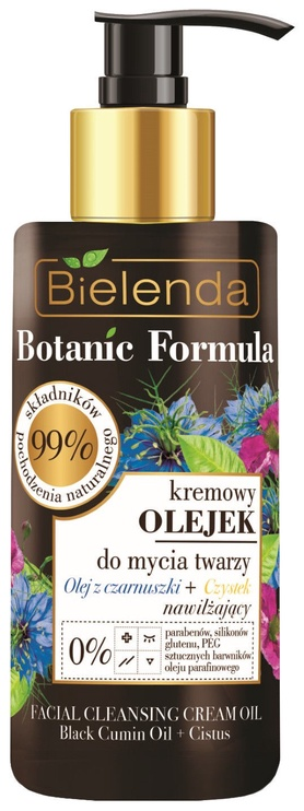 Makiažo valiklis Bielenda Botanic Formula Cumin Oil + Cistus Creamy Face Cleansing Oil, 140 ml