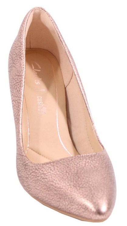 Clarks 261351764 Laina Rae Leather Pumps Rose Gold 41.5