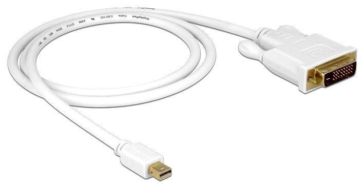 Delock Cable Mini Displayport to DVI 1m White