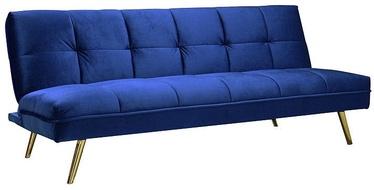 Dīvāngulta Signal Meble Moritz Velvet Dark Blue/Gold, 181 x 106 x 88 cm