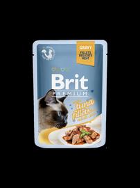 Koservuotas ėdalas katėms Brit Premium Cat Delicate Tuna in Gravy, 85 g