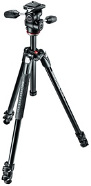 Alus Manfrotto 290 XTRA Three-Section Aluminum Tripod with 3-Way Head