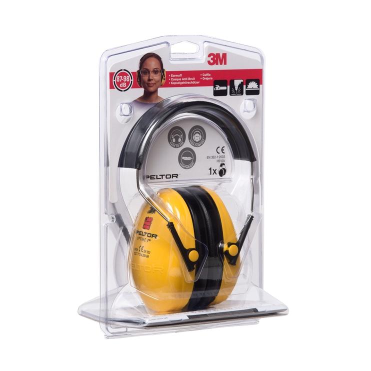 Apsauginės ausinės 3M H510A, geltonos