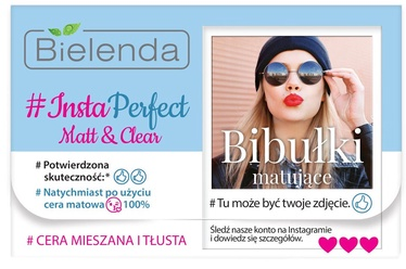 Bielenda #Insta Perfect Matt & Clear Blotting Wipes 100pcs