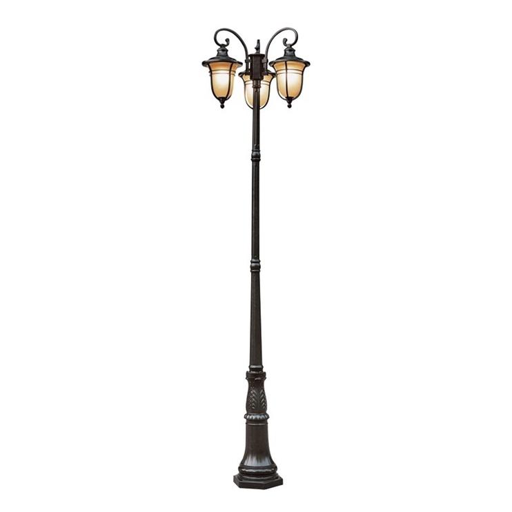Domoletti 004-PL-3 Garden Light 3x60W Matt Black