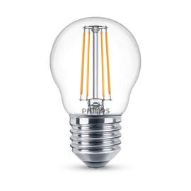 LED lempa Philips P45, 4W, E27, 2700K, 470lm