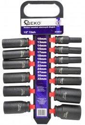 "Geko G10512 Impact Sockets Set 1/2"" 10-32mm 75mm 13pcs"