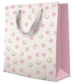 Paw Decor Collection Gift Bag Painted Dots Pink 26.5x13x33.5cm
