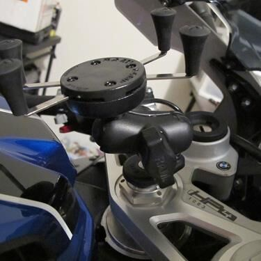Ram Mounts X-Grip Phone Holder With Motorcycle Fork Stem Base