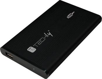Techly 020317 USB 2.0 IDE HDD 2.5'' Enclosure Aluminium Black