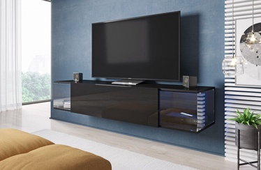 Cama Meble RTV Vigo 160 Sky TV Stand Black/Black Gloss