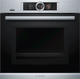 Bosch Oven with Microwave Serie 8 HNG6764S6 Silver