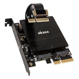 Akasa Dual M.2 PCIe SSD Adapter w/ RGB