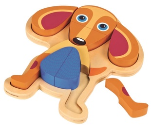 Oops Wooden Puzzle In Storage Frame Dog 9pcs 16002.22