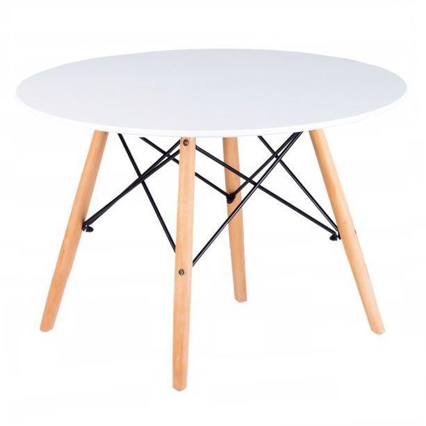 Kafijas galdiņš GoodHome Scandinavia Modern, balta/dižskābarža, 600x600x480 mm