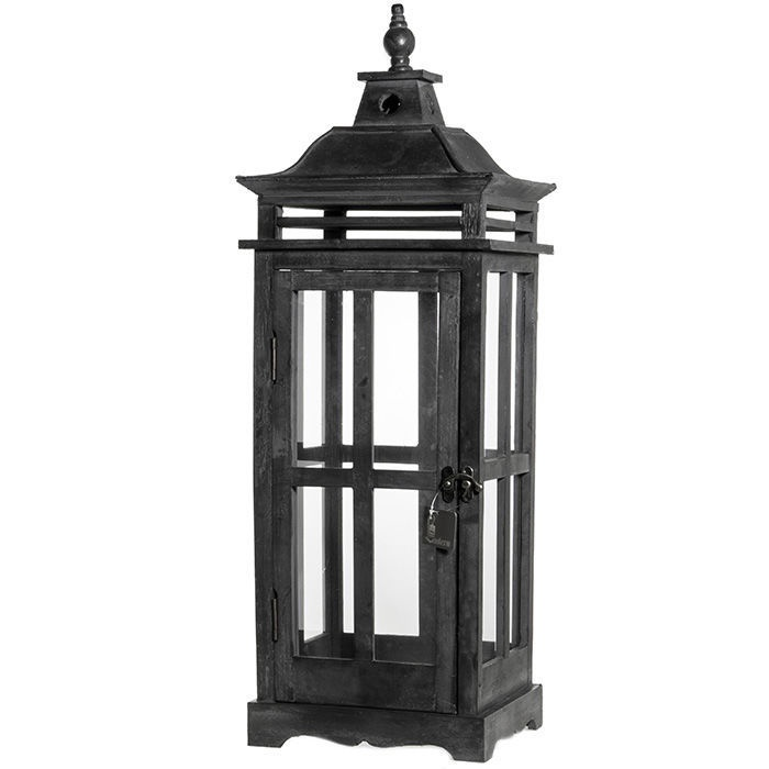 Polar Lanterns Wooden Lantern 77cm Black