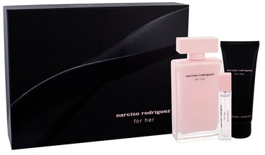 Narciso Rodriguez For Her 100ml EDP + 75ml Body Milk + 10ml EDP
