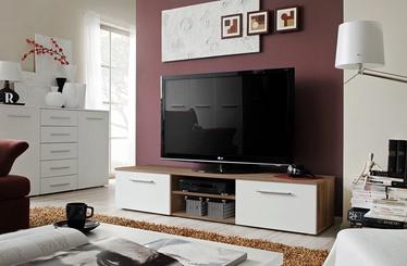 TV-laud ASM Bono II Plum/White Gloss, 1800x450x350 mm