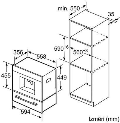 Iebūvēts kafijas automāts Bosch CTL636EB1