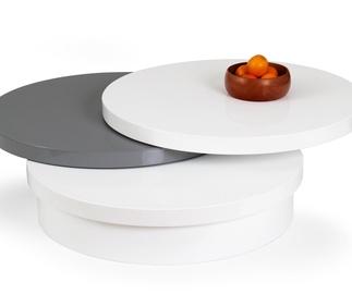 Kavos staliukas Michelle baltas/pilkas, išskleidžiamas