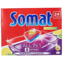 Indaplovių tabletės Somat All In 1 Lemon, 24 vnt.