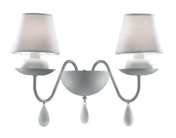 Sienas lampa Ideal Lux Blanche AP2 2x40W E14
