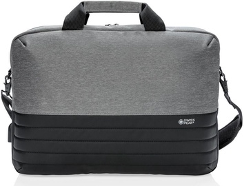 "Swiss Peak RFID Laptop Bag 15.6"" Grey/Black"