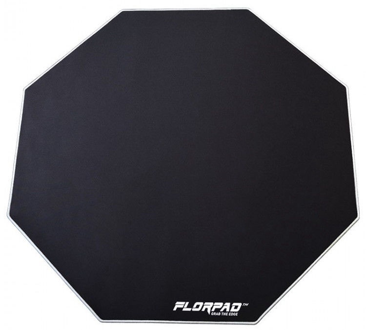 FlorPad Octagonal Floor Mat For Gamers Silver Line