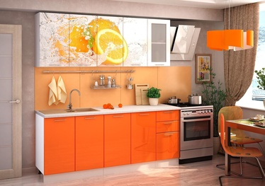 MN Orange Kitchen Unit 1.8m