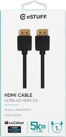 HDMI-KAABEL ESTUFF 2.0 UHD 1M