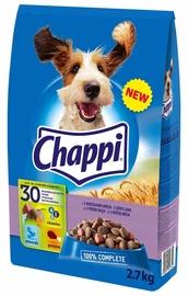 Sausas šunų ėdalas Chappi, su trimis mėsos rūšimis, 2.7 kg