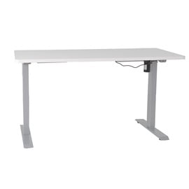 Home4you Ergo Electric Adjustable Work/Standing Desk White/Grey