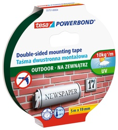 Клейкая полоска Tesa 55751-00004-04, Двусторонняя, 5 м x 1.9 см