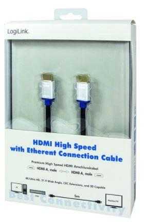 LogiLink Cable HDMI / HDMI Black 5 m