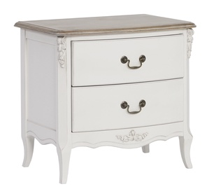 Home4you Elizabeth Nightstand Antique White/Brown