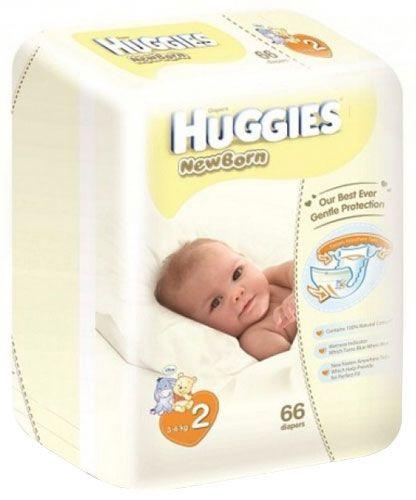 Sauskelnės Huggies Newborn, 2 dydis, 66 vnt.