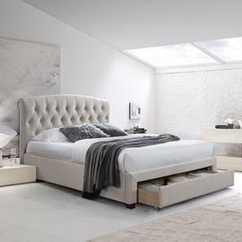 Home4you Natalia Bed w/ Mattress Olympia Top 160x200cm Beige